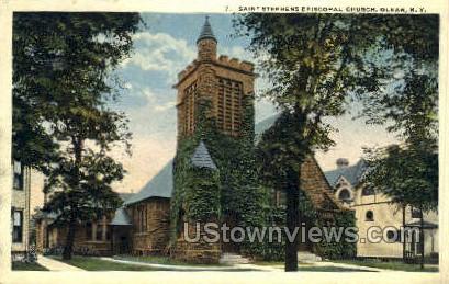 Saint Stephens Episcopal Church - Olean, New York NY Postcard
