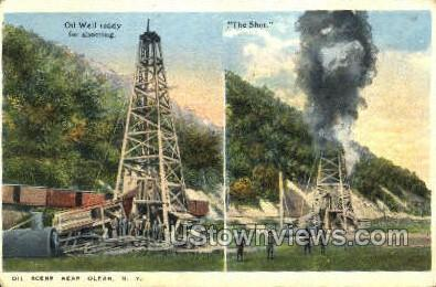 Oil Well - Olean, New York NY Postcard
