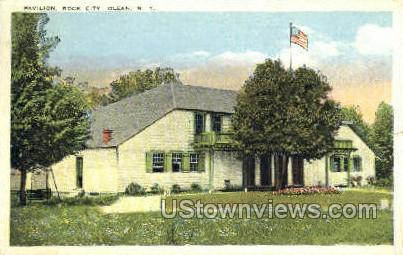 Pavilion, Rock City - Olean, New York NY Postcard