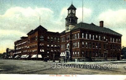 Union St. - Olean, New York NY Postcard