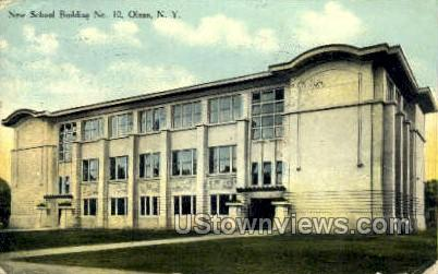 New School Bldg No. 10 - Olean, New York NY Postcard