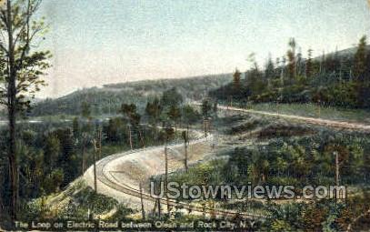 Electric Road - Olean, New York NY Postcard