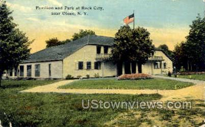 Pavilion & Park at Rock City - Olean, New York NY Postcard