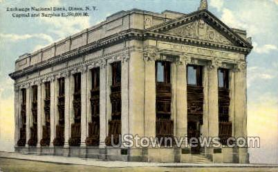 Exchange National Bank - Olean, New York NY Postcard