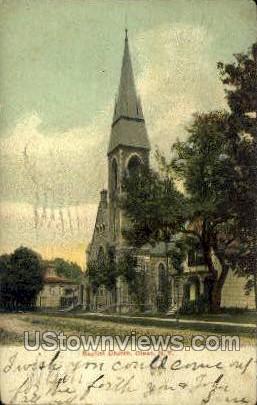 Baptist Church - Olean, New York NY Postcard