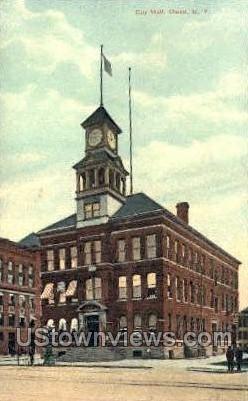 City Hall - Olean, New York NY Postcard