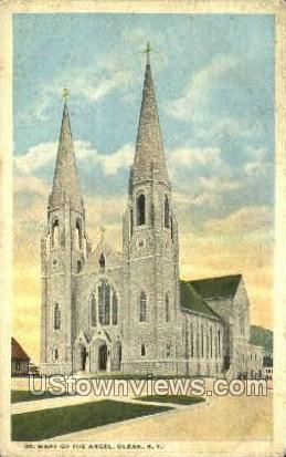 St. Mary of the Angel - Olean, New York NY Postcard