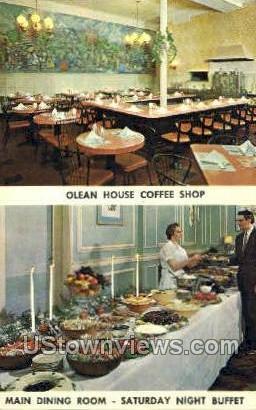 Olean Hosue Coffee Shop - New York NY Postcard