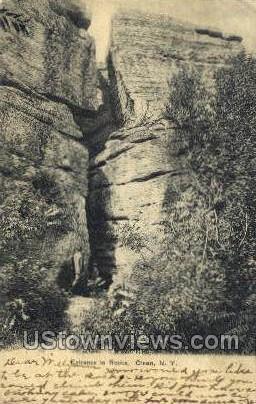 Entrance to Rocks - Olean, New York NY Postcard