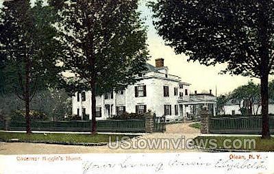 Governor Higgins' Home - Olean, New York NY Postcard