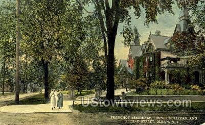 Franchot Residence - Olean, New York NY Postcard