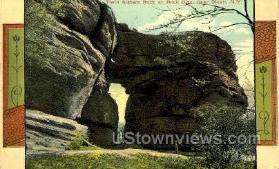 Twin Sister Rock, Rock City - Olean, New York NY Postcard