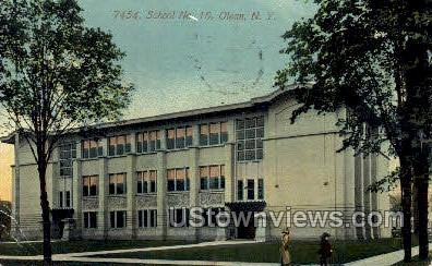 School No. 10 - Olean, New York NY Postcard