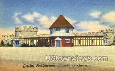 Castle Restaurant - Olean, New York NY Postcard
