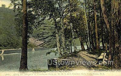 Allegany at Riverhurst Park - Olean, New York NY Postcard
