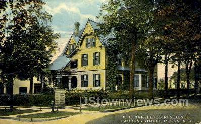 F.L., Bartlett's Residence - Olean, New York NY Postcard