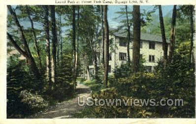 Laurel Path at Forest Park Camp - Oquaga Lake, New York NY Postcard