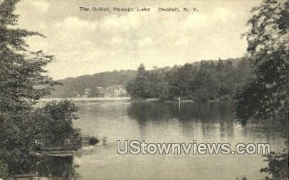 The Outlet, Deposit - Oquaga Lake, New York NY Postcard