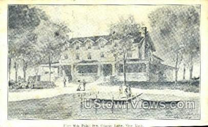 Five Mile Point Inn - Otsego Lake, New York NY Postcard