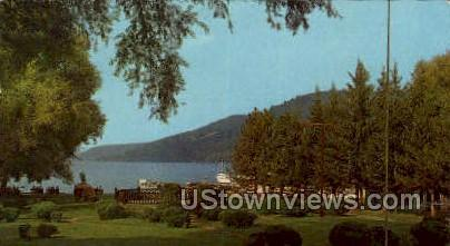 Lake-Front Public Park, Cooperstown - Otsego Lake, New York NY Postcard