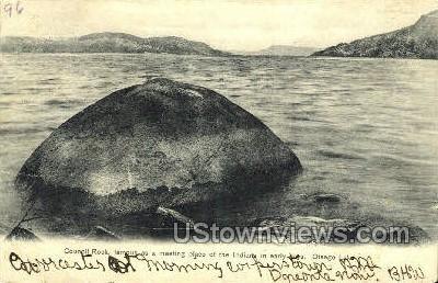 Council Rock - Otsego Lake, New York NY Postcard