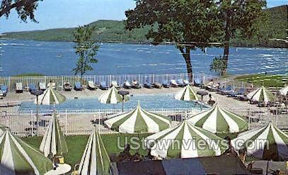 Heated Pool, The Otesaga - Otsego Lake, New York NY Postcard
