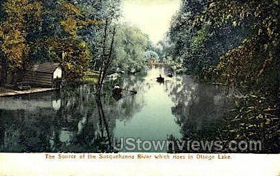 Susquehanna River - Otsego Lake, New York NY Postcard