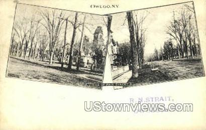Main Street - Owego, New York NY Postcard
