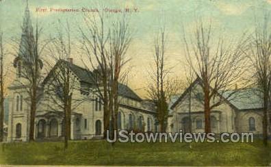 First Presbyterian Church - Owego, New York NY Postcard