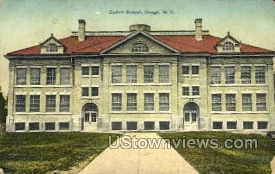 Central School - Owego, New York NY Postcard