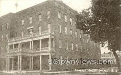 Ahwaga Hotel - Owego, New York NY Postcard