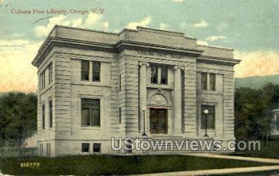 Coburn Free Library - Owego, New York NY Postcard