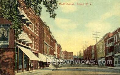 North Ave - Owego, New York NY Postcard