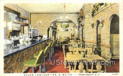 Green Lantern Inn, Tioga County - Owego, New York NY Postcard