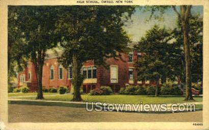 High School, Owego - New York NY Postcard