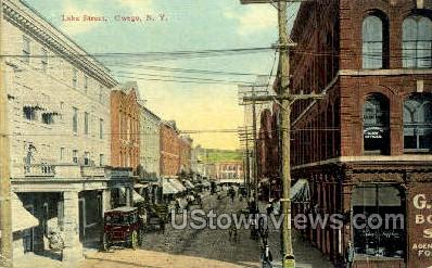 Lake Street - Owego, New York NY Postcard