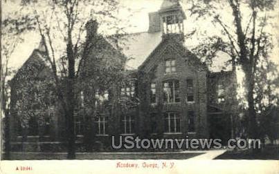 Academy, Owego - New York NY Postcard
