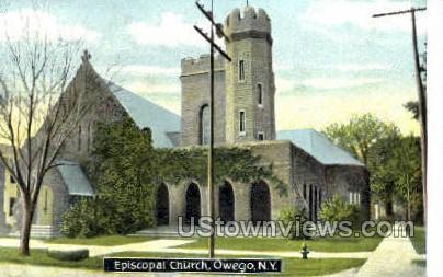 Episcopal Church - Owego, New York NY Postcard