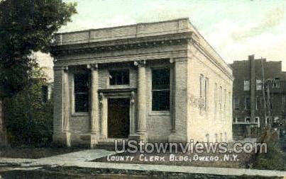 County Clerk Bldg - Owego, New York NY Postcard