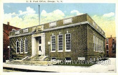US Post Office - Owego, New York NY Postcard