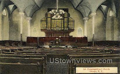 Int. Congregational Church - Owego, New York NY Postcard