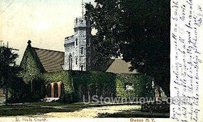 St. Paul's Church - Owego, New York NY Postcard
