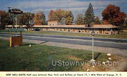 Deep Well Motel - Owego, New York NY Postcard