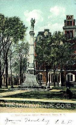 Court House & Soldiers Monument - Owego, New York NY Postcard
