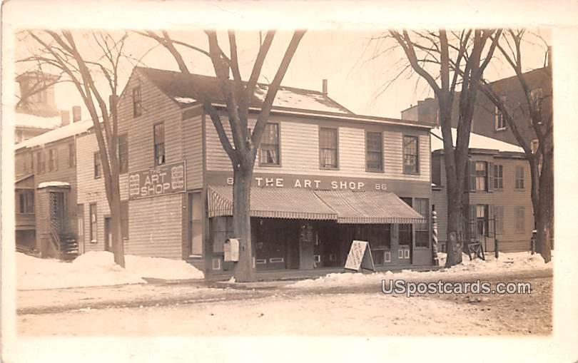 The Art Shop - Owego, New York NY Postcard