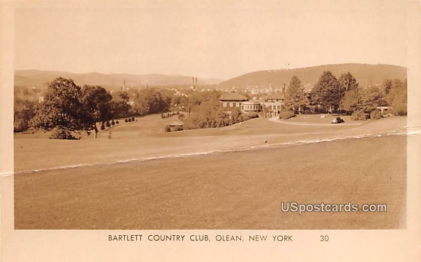 Bartlett County Club - Olean, New York NY Postcard