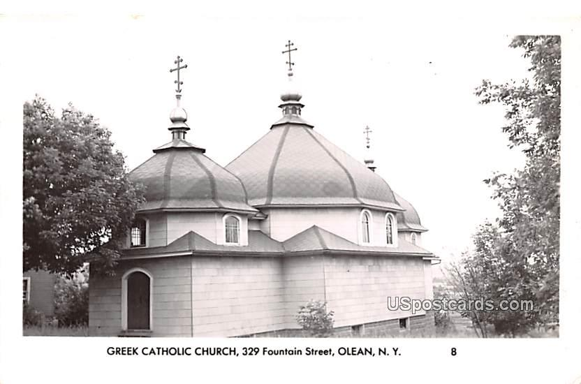 Greek Catholic Church - Olean, New York NY Postcard