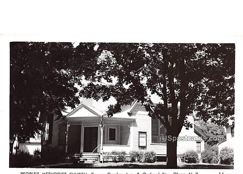 People's Methodist Church - Olean, New York NY Postcard