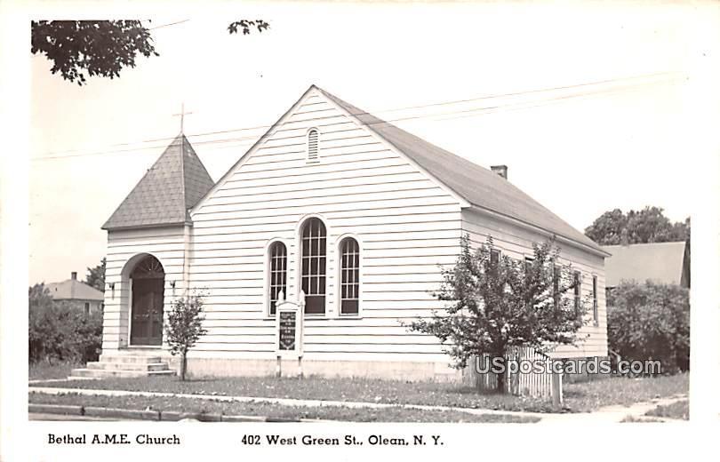 Bethal AME Church - Olean, New York NY Postcard