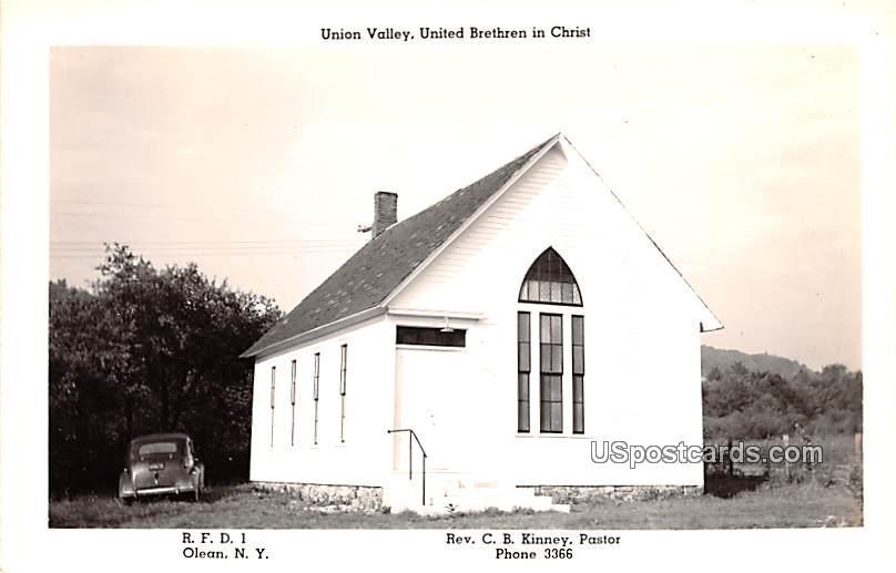 Union Valley - Olean, New York NY Postcard